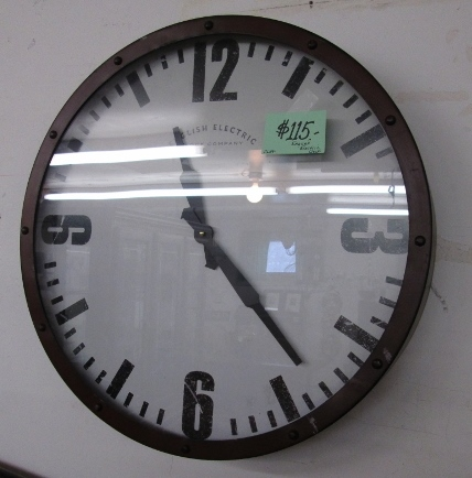 Clock by English Electric Clock Company