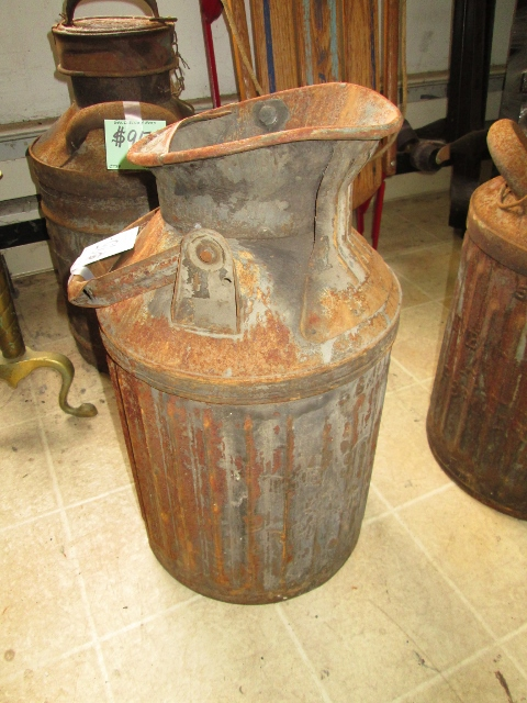 """Antique """"George D Ellis & Sons"""" 5 gal Gas Station Can"""